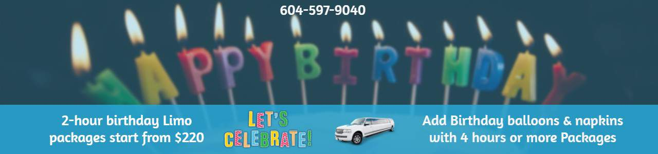 Birthday Limo Packages